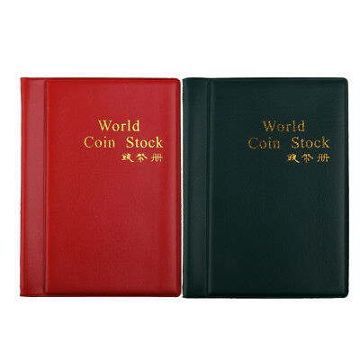 2 Paper Money Collection Album Storage 60 Pockets Banknote Holders Book #A