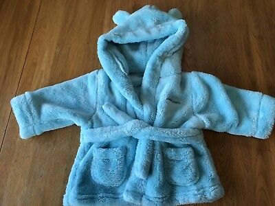 """Baby Boys Personalised """"Joseph"""" Dressing Gown 0-6 Months"""