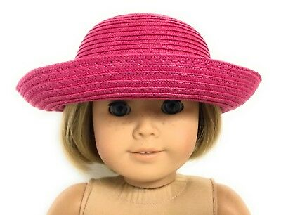 Dark Pink Hat Accessories fits 18 inch American Girl Doll Clothes