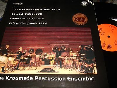 The Kroumata Percussion Ensemble : Cage/cowell Lp 1983 Bis Digital Germany