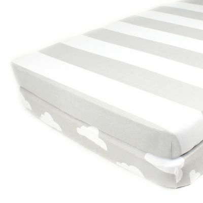 Pack N Play Playard Sheet Set - 2 Pack - Fitted, Soft Jersey Cotton Portable