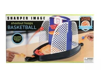 New Portable Sharper Image Mini Basketball Game Tabletop
