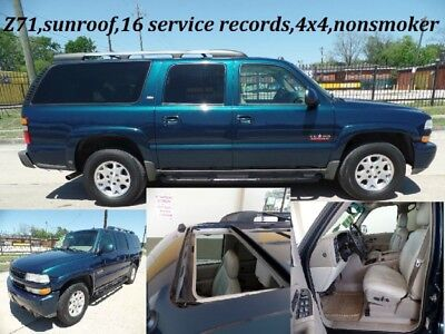 Suburban 4dr 1500 4WD Z71 2005 Chevrolet Suburban 4dr 1500 4WD Z71 181,090 Miles Teal SUV 5.3L 295.0hp A