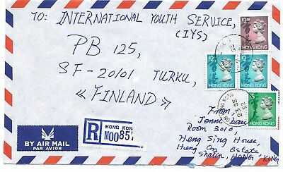 Hong Kong 1992 HENG ON 2 postmark on  cover to Finland