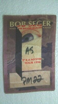Bob Seger & The Silver Bullet Band Backstage Concert Pass for '96 It's a Mystery