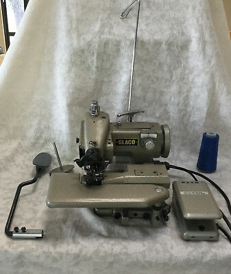 VINTAGE INDUSTRIAL GLACO Invisible Seam Blind Hem Stitcher Sewing Unique Glaco Industrial Sewing Machine