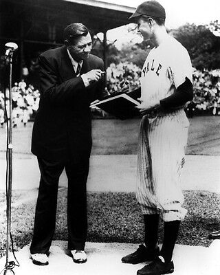 1948 Yale GEORGE H W BUSH meets Babe Ruth Glossy 8x10 Photo Poster Print