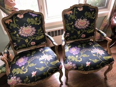 Pair Of French Style Arm Chairs