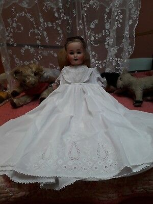 Vintage Baby Ayrshire Christening Gown Dress Antique Cotton Hand Embroidery