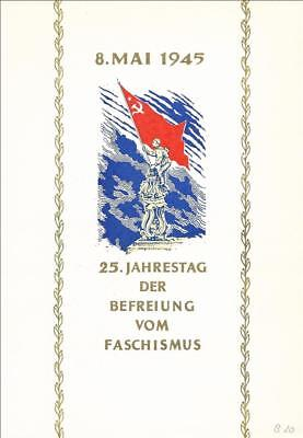 GDR Memorial Sheet 25 YEARS LIBERATION FASCISM IN COLOR GREEN - Bronze from 1970