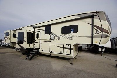 FREE HITCH WITH 2018 Jayco North Point 387RDFS Fifth Wheel Luxury RV Rear Den