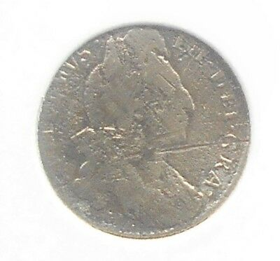 Scarce Silver 1696 Great Britain 6 Six Pence William III Nice Circulated # WB 18