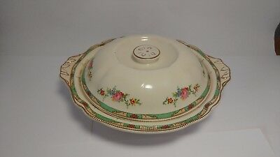 Johnson Brothers The Connaught Round Handled Covered Vegetable Bowl With Lid