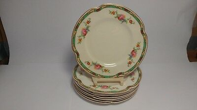 "Set of EIGHT Johnson Brothers Pareek The Connaught 6 5/8"" Bread & Butter Plates"