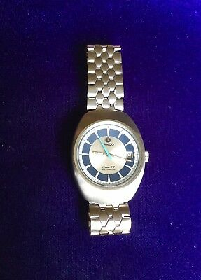 Lanco Club 77 Automatic Swiss Made Watch 1970s New Old Stock Stainless Steel
