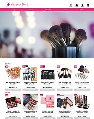 Established Makeup Store Profitable Website Business For Sale - Dropshiping