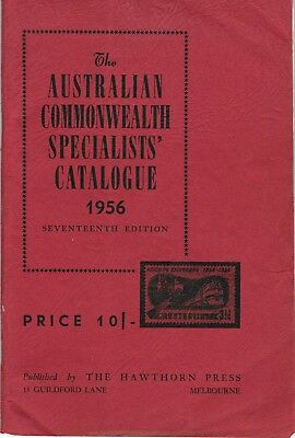ACSC  Australian Commonwealth Specialists' Catalogue  1956  17th Edition