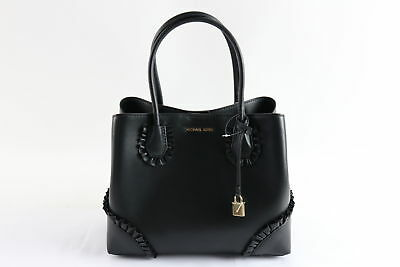 7f862760455173 NWT $328 Michael Kors Mercer Gallery MD Studio Black Zip Tote Handbag (264)