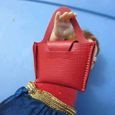 Doll Red Purse Textured Fits Madame Alexander Wendy, Muffie, Ginger 1950 Vintage