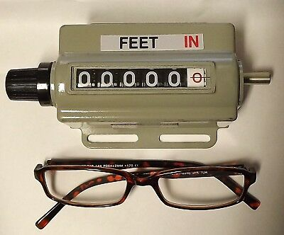 "Veeder-Root Totalizer/Visicounter 5-Digit Feet + Inches 6.25""x 3.5"" x 2.5"" LARGE"