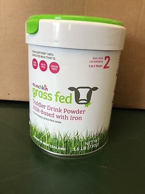 Munchkin Grass Fed Toddler Drink Powder Milk Based with Iron 1.6lb 1/29/2019