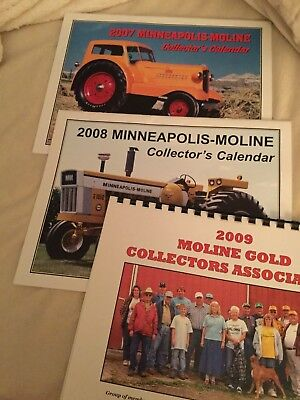 Great Condition 2007, 2008, and 2009 Minneapolis Moline Calendars