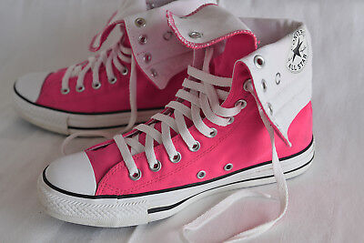 HOT PINK CONVERSE All Star High canvas sneakers/shoes. US Mens 7 Womens 9