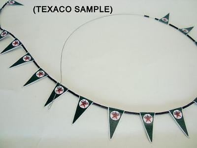 1-24 or 1-18 Scale String of Texaco Banners  Gas Station Garage  Diorama Display
