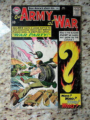 1965 Our Army at War No. 151 Mid-Grade About VG-/VG Condition Comic Book