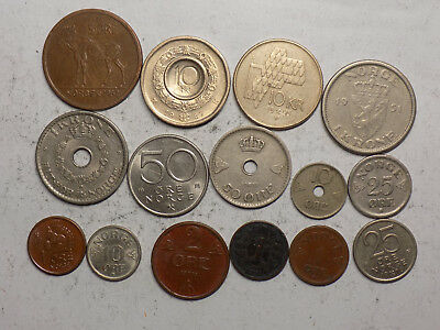 Norway 15 Coins Lot   (L31)