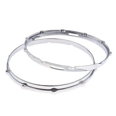 2x Snare Drum Hoop Ring Rim for 14'' Snare Drum Percussion Instrument Parts