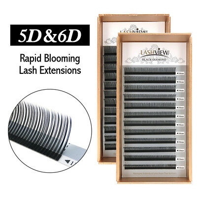Lashview Rapid Blooming Volume Eyelash Extensions Fast Fan Individual Lashes .07