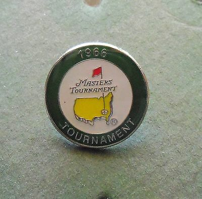 1 only U.S. MASTERS 1966  GOLF ball marker WON BY JACK NICKLAUS+ display case