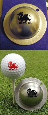 1 only TIN CUP GOLF BALL MARKER- MAGIC DRAGON  - ST GEORGE DRAGONS - EASY TO DO
