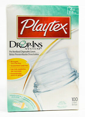 Playtex Nurser Drop-Ins Pre-Sterilized Disposable Bottle Liners 4 oz 100ct