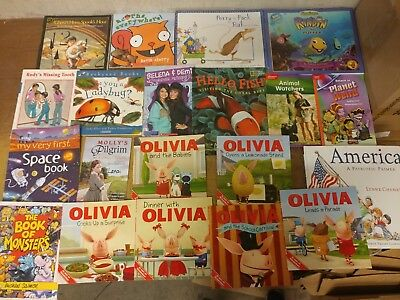 Lot of 20 K-5 Scholastic Learn to Read Picture Mix Set Kid Children Book #U72 NR