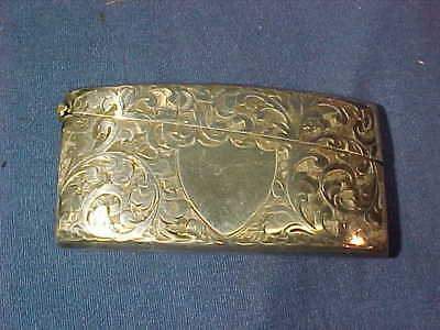 Early 20thc ART NOUVEAU Style STERLING Silver CALLING CARD CASE Birmingham