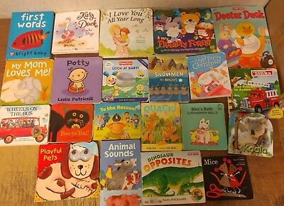 Lot of 20 Board Toddler Hardcover Picture DayCare Kid Child Books - UNSORTED U78