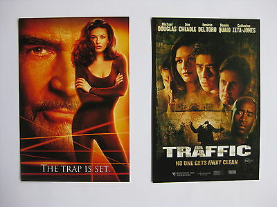 ENTRAPMENT, TRAFFIC Orig Australian movie postcards Catherine Zeta-Jones Connery