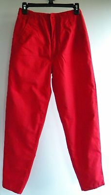 Vintage 1980s Red High Rise Waisted Pants Trousers Sz M 11 / 12 Nautical Pin Up