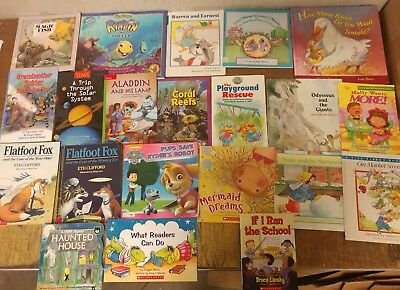 Lot of 20 K-5 Scholastic Learn to Read Picture Mix Set Kid Children Book #U83 NR