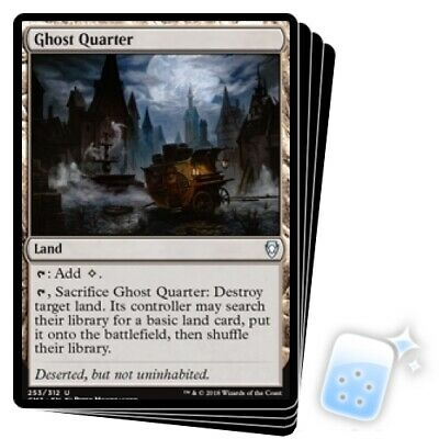 GHOST QUARTER X4 Commander Anthology Volume Ii Magic MTG MINT CARD