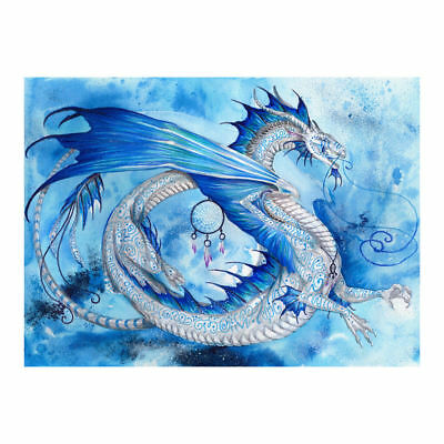 "Diamond Painting - Diamant Malerei - Stickerei - ""Drachen"" (296)"