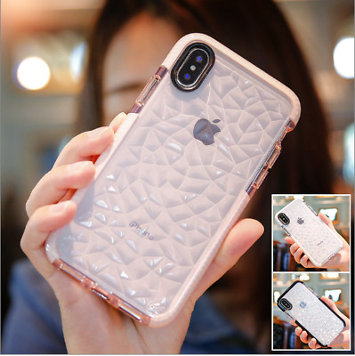 Shockproof Rubber 7 Clear Phone Case XS MAX Soft Bumper Cover for iPhone Samsung