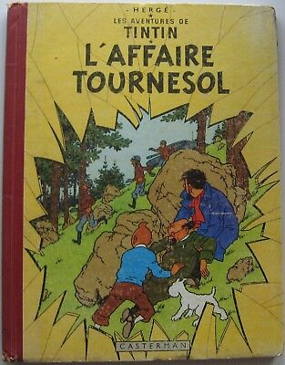 Tintin L'Business Sunflower B19 Eo 1956 Herge Good Condition Back Red Pellior