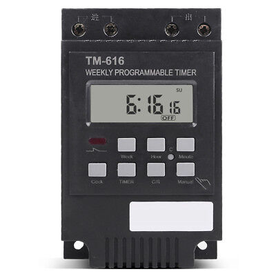 Better Load 30A Time Relay 7 Days Programmable Digital Timer Switch Relay 12V HC
