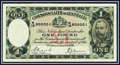 """""""Riddle/Sheehan"""" R-28 Pound Bank note  N/18-800001 First yr. of Issue 1933"""