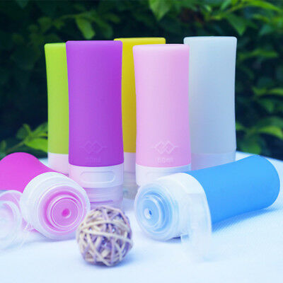 Silicone Travel Pack Press Bottle Lotion Shampoo Bath Leakproof Tube Container