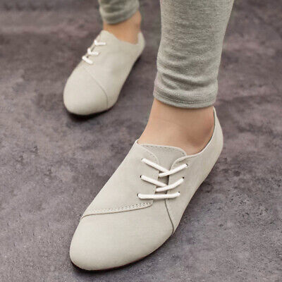 Slip Ballet Shoes Casual Suede Womens Lace Loafers Single Pumps Slide Flats On