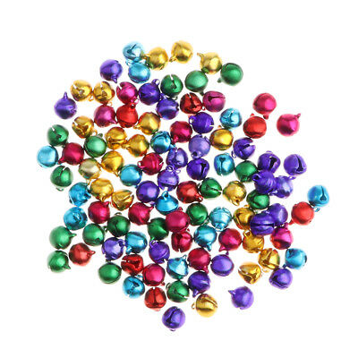 100 Pieces Colored Jingle Bells Pet Doll Toy DIY Jewelry Making Craft Party Prop